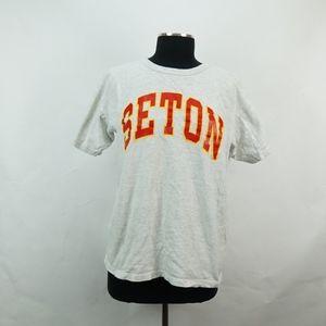 Vintage Champion Seton T Shirt L
